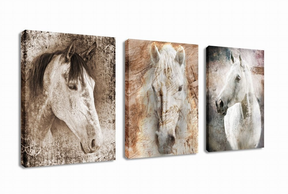Best ideas about Horse Wall Art . Save or Pin Canvas Wall Art Horse Painting Prints on Framed Ready to Now.