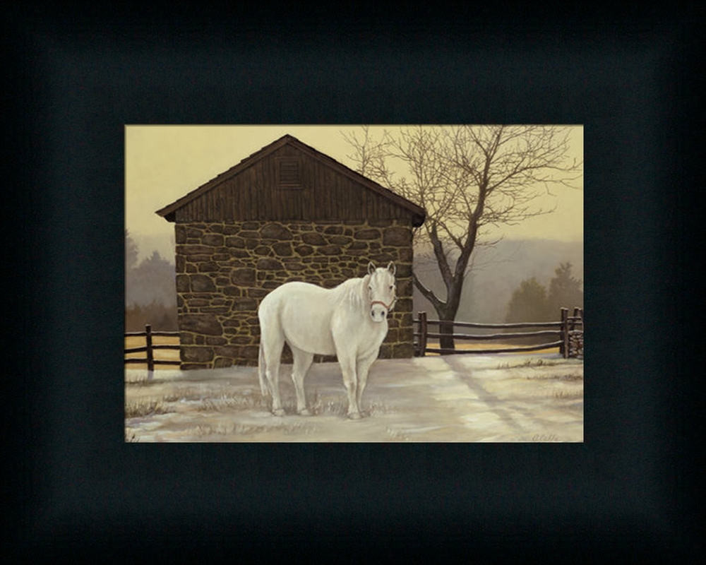 Best ideas about Horse Wall Art . Save or Pin Mare Shed White Horse Winter Landscape Framed Art Print Now.