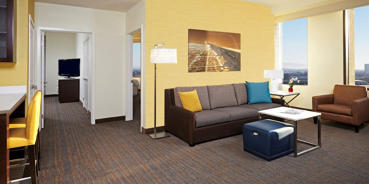 Best ideas about Hotels With Two Bedroom Suites . Save or Pin Hotel LAX Airport Los Angeles Suites Now.