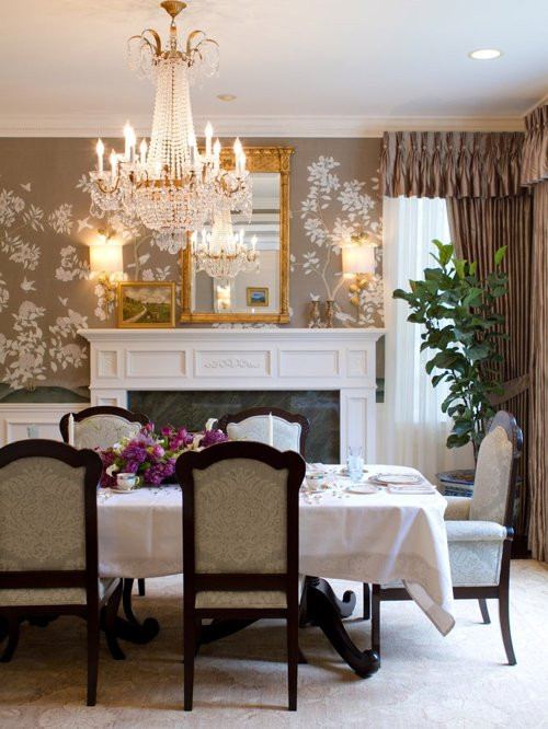 Best ideas about Houzz Dining Room . Save or Pin Dining Room Wallpaper Now.