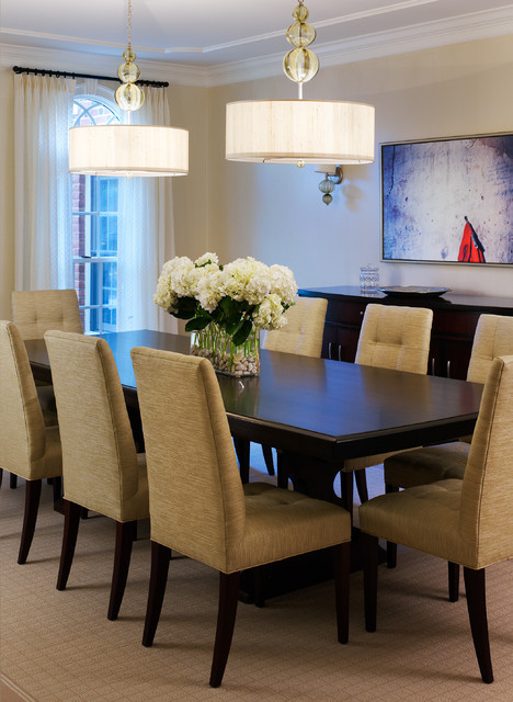 Best ideas about Houzz Dining Room . Save or Pin Tone on Tone Dining Room Transitional Dining Room Now.