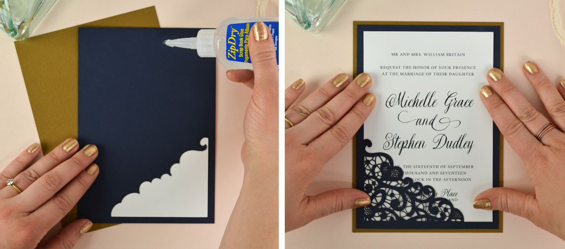 Best ideas about How To DIY Wedding Invitations . Save or Pin How to DIY Laser Wedding Invitations with Slide in Cards Now.