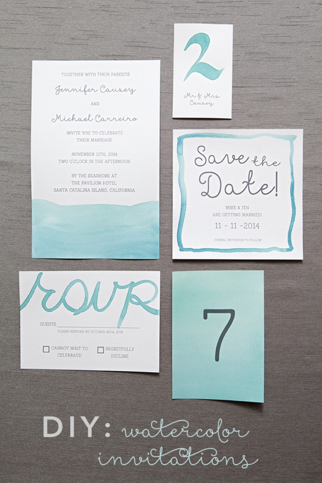Best ideas about How To DIY Wedding Invitations . Save or Pin Learn exactly how to diy watercolor wedding invitations Now.