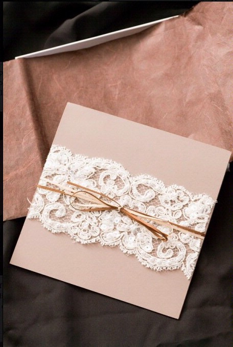 Best ideas about How To DIY Wedding Invitations . Save or Pin DIY Lace Wedding Invitation ♥ Cheap Wedding Invitation Now.