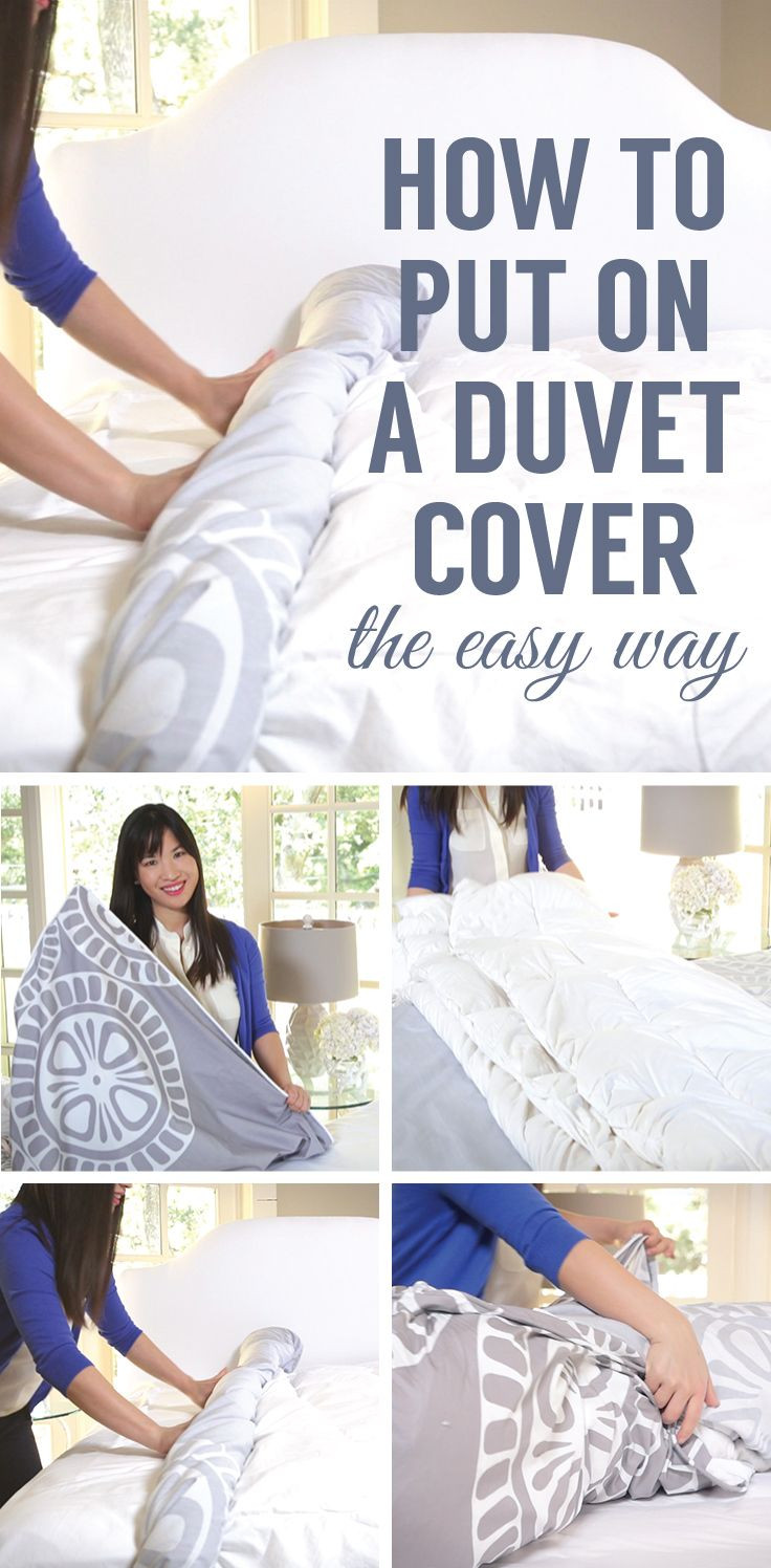 Best ideas about How To Keep Sheets On Bed DIY . Save or Pin Watch and see the easiest way to put on a duvet cover Now.