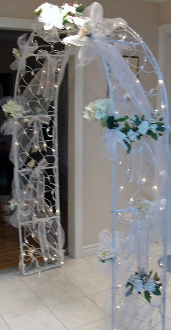 Best ideas about How To Make DIY Lighted Wedding Columns . Save or Pin idea to decorate the arch Ideas Now.