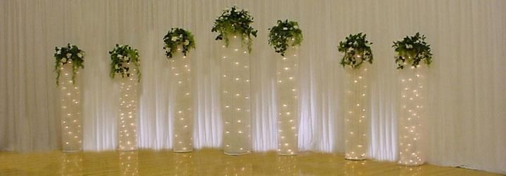 Best ideas about How To Make DIY Lighted Wedding Columns . Save or Pin how to make your own lighted netting backdrop Google Now.