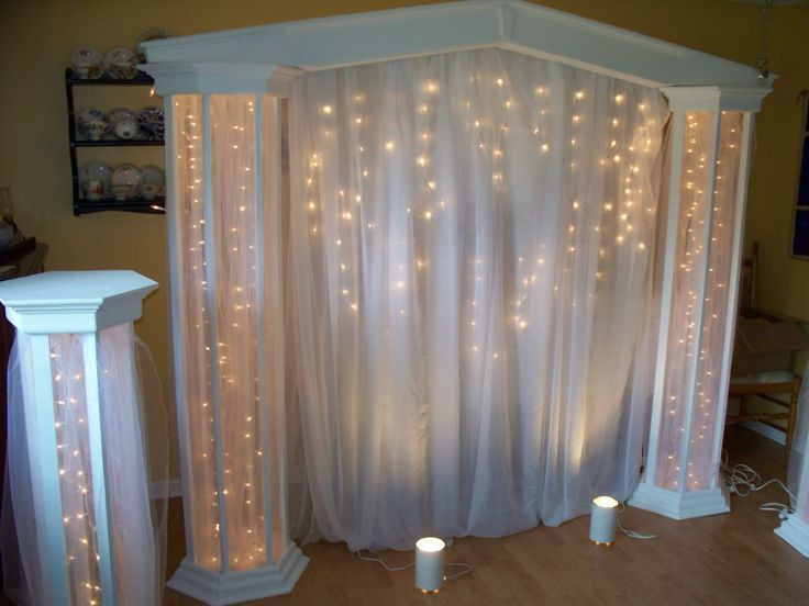 Best ideas about How To Make DIY Lighted Wedding Columns . Save or Pin Image result for how to make DIY lighted wedding columns Now.