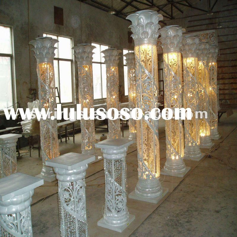 Best ideas about How To Make DIY Lighted Wedding Columns . Save or Pin lighted columns and pillars Love the caps on the poles Now.