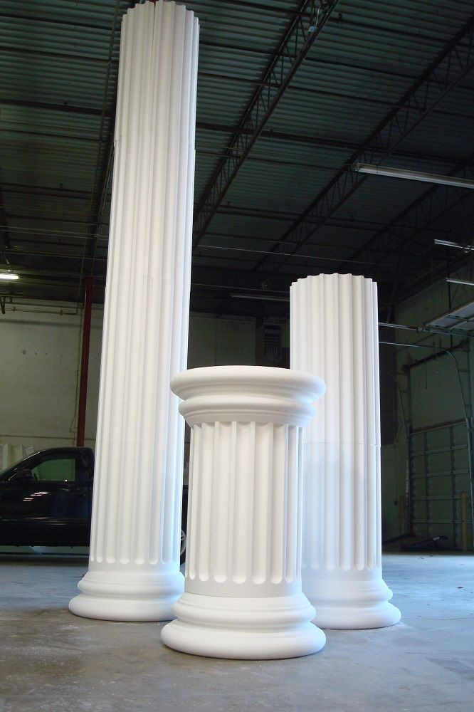 Best ideas about How To Make DIY Lighted Wedding Columns . Save or Pin Foam columns for a TV show set Now.