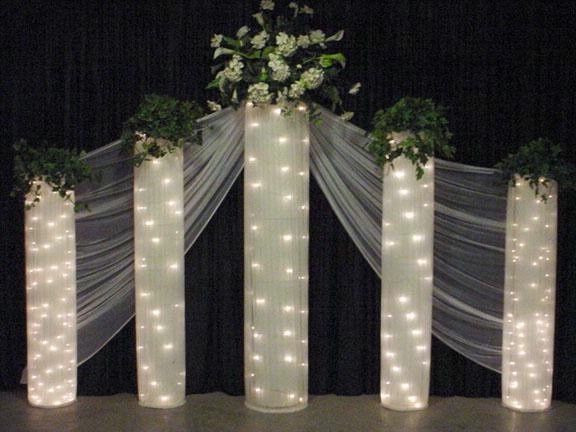 Best ideas about How To Make DIY Lighted Wedding Columns . Save or Pin chicken wire and lights Now.