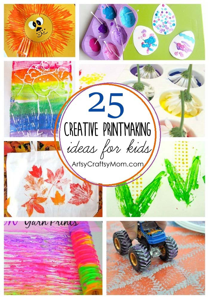Best ideas about Ideas For Kids . Save or Pin 25 Creative Printmaking Ideas for kids Artsy Craftsy Mom Now.