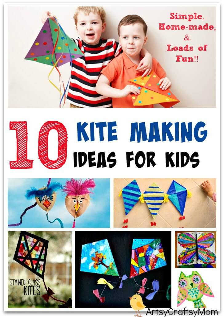 Best ideas about Ideas For Kids . Save or Pin 10 Simple Kite Making Ideas for kids Artsy Craftsy Mom Now.
