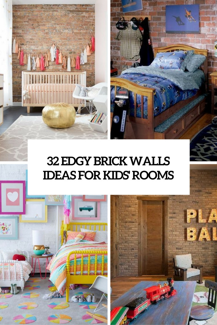 Best ideas about Ideas For Kids . Save or Pin 32 Edgy Brick Walls Ideas For Kids Rooms DigsDigs Now.