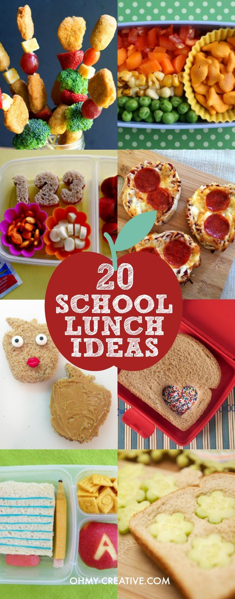 Best ideas about Ideas For Kids . Save or Pin 20 Creative School Lunch Ideas for Kids Oh My Creative Now.