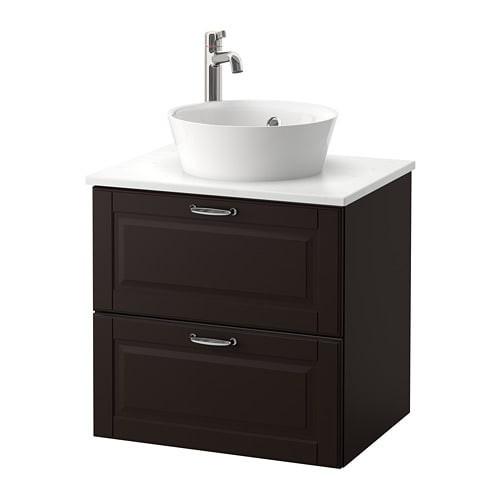Best ideas about Ikea Bathroom Vanity . Save or Pin GODMORGON TOLKEN KATTEVIK Sink cabinet with top 15¾ Now.