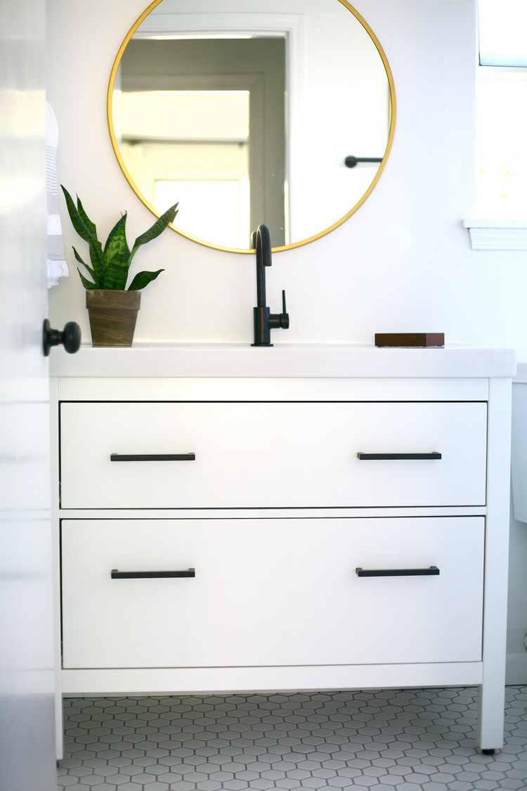 Best ideas about Ikea Bathroom Vanity . Save or Pin My proudest IKEA hack Classy modern vanity from an IKEA Now.