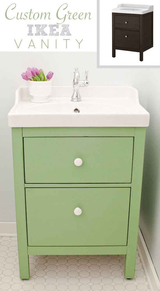 Best ideas about Ikea Bathroom Vanity . Save or Pin Green IKEA Custom Bathroom Vanity The Golden Sycamore Now.