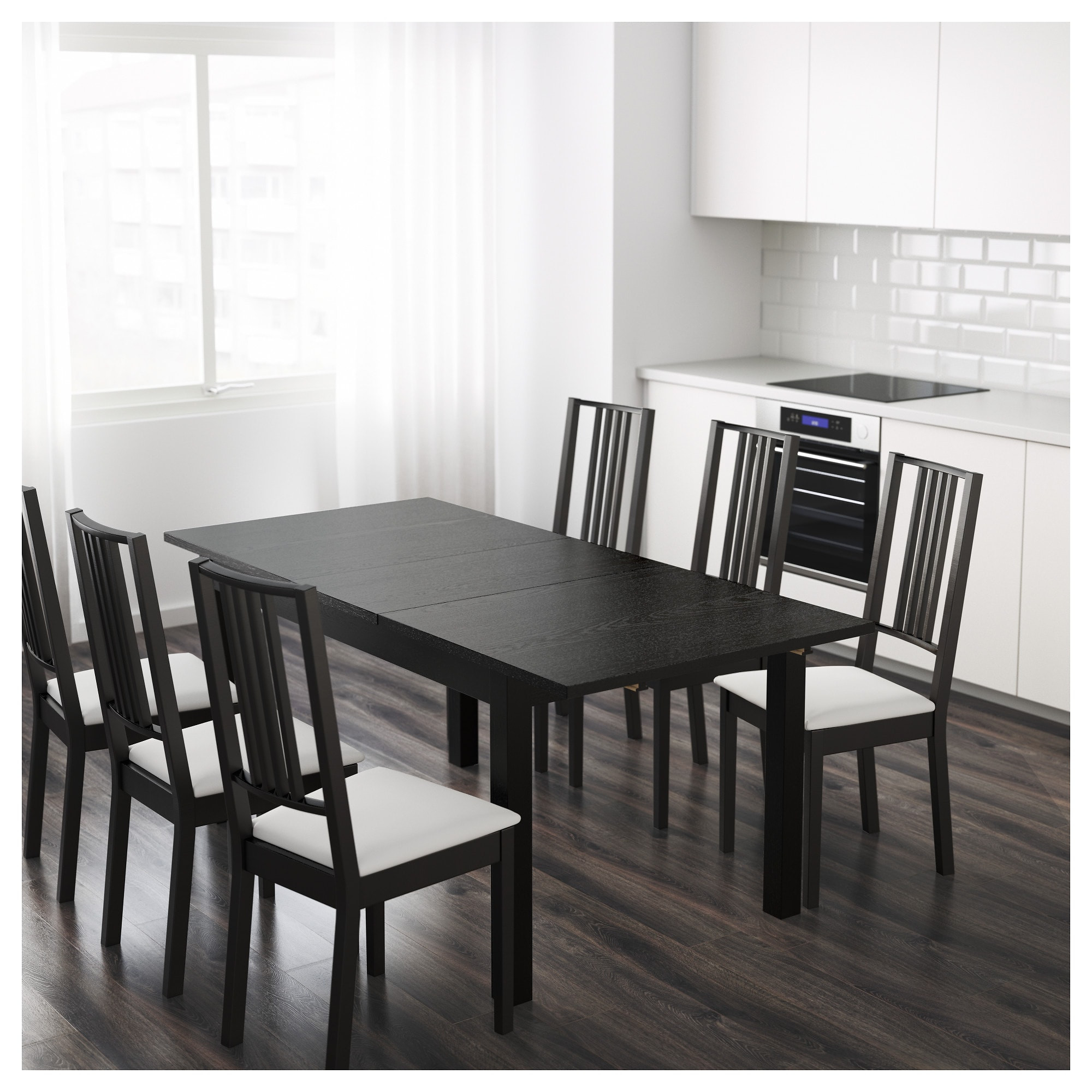 Best ideas about Ikea Dining Table . Save or Pin BJURSTA Extendable table Brown black 140 180 220 x 84 cm Now.