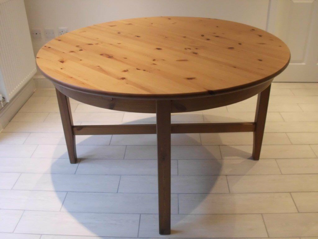 Best ideas about Ikea Round Dining Table . Save or Pin IKEA LEKSVIK ROUND EXTENDING DINING TABLE SEATS UP TO 6 Now.