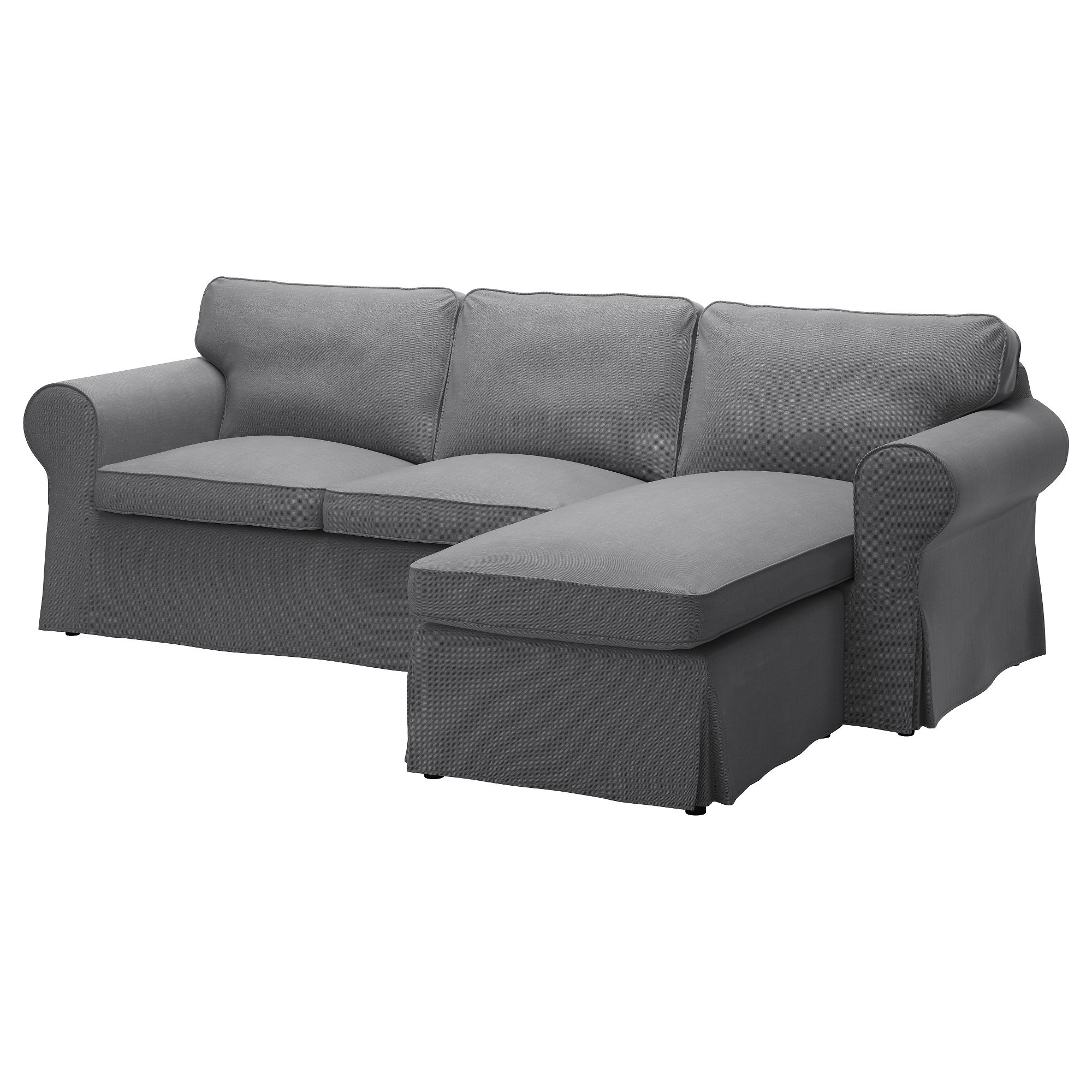 Best ideas about Ikea Sectional Sofa . Save or Pin EKTORP Two seat sofa and chaise longue Nordvalla dark grey Now.