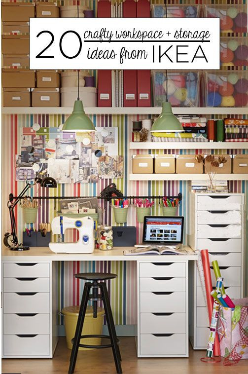 Best ideas about Ikea Storage Ideas . Save or Pin 20 Crafty Workspace Storage Ideas from Ikea Now.