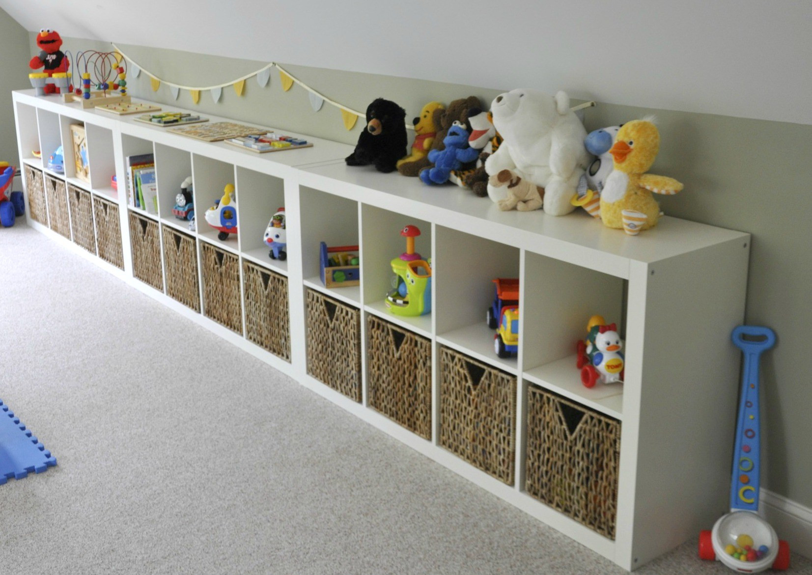Best ideas about Ikea Storage Ideas . Save or Pin Ikea Expedit Playroom Storage Now.