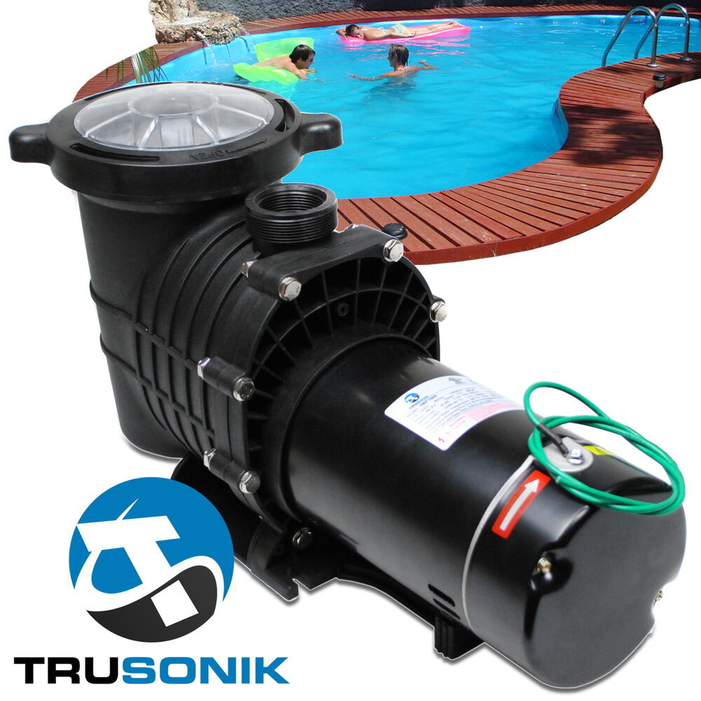 Best ideas about In Ground Pool Pump . Save or Pin NEW TruSonik 2 HP In Ground Swimming Pool Pump Motor Now.