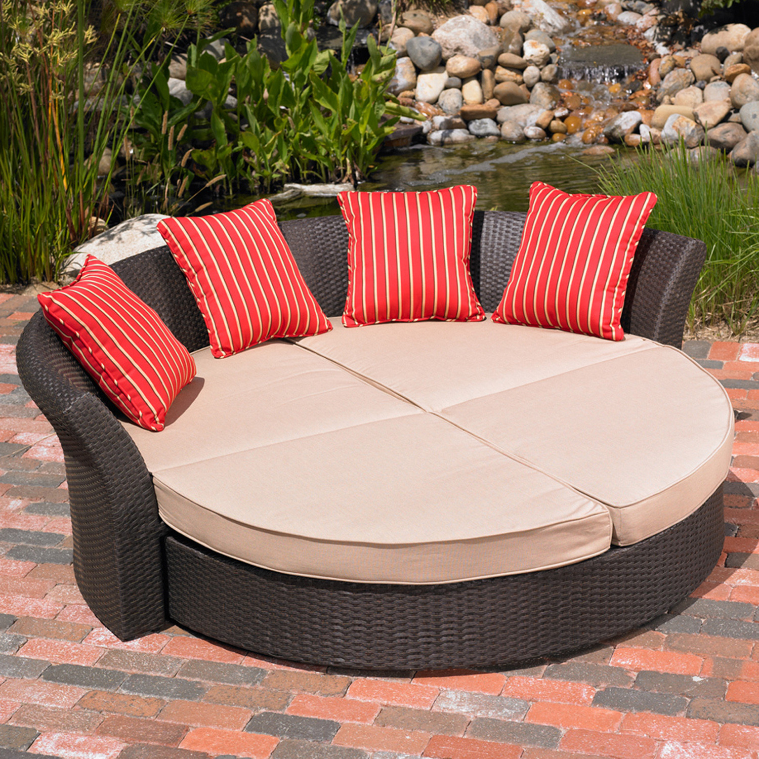 Best ideas about Indoor Patio Furniture . Save or Pin Mission Hills Corinth Daybed Indoor Outdoor Patio Lawn Now.