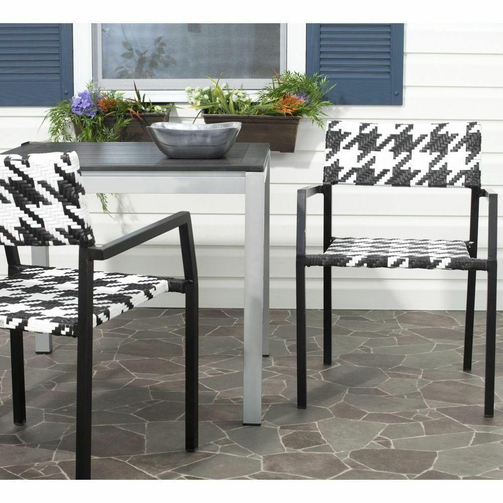 Best ideas about Indoor Patio Furniture . Save or Pin Safavieh Indoor Outdoor Halden White Black Arm Chair Set Now.