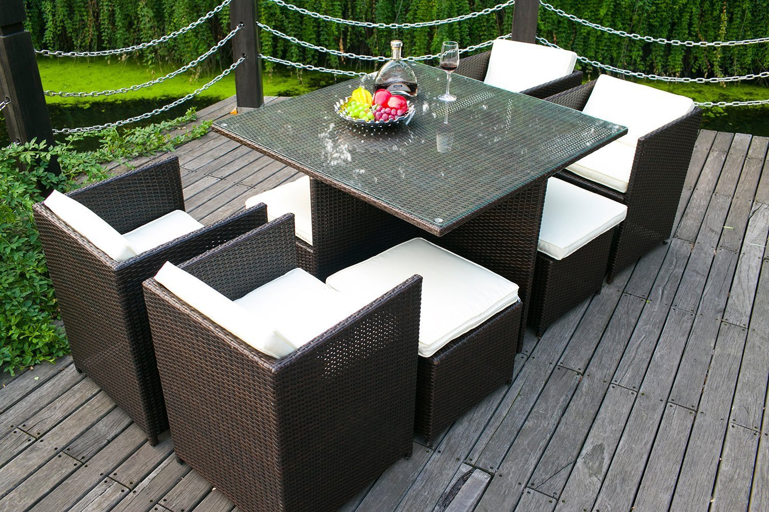 Best ideas about Indoor Patio Furniture . Save or Pin Outdoor Patio Furniture Sofa Indoor Wicker Cushions Rattan Now.