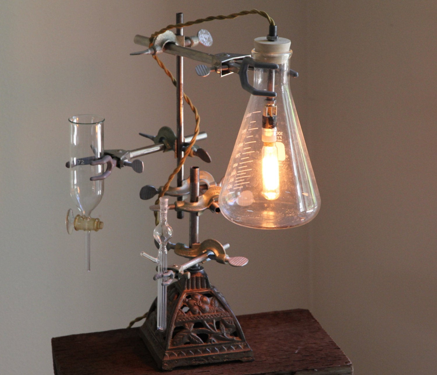 Best ideas about Industrial Desk Lamp . Save or Pin Industrial desk lamp steampunk flower vase lighting antique Now.