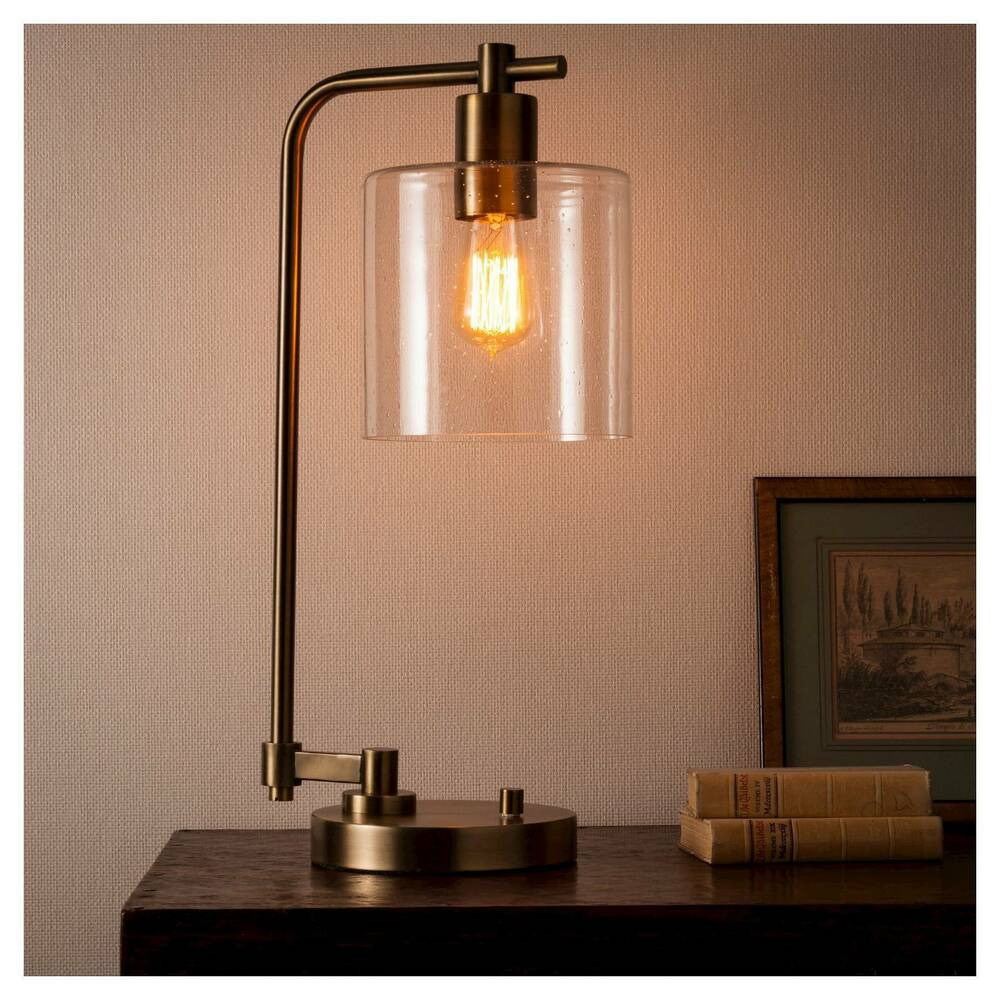 Best ideas about Industrial Desk Lamp . Save or Pin Hudson Industrial Table Lamp Antique Brass Threshold Now.
