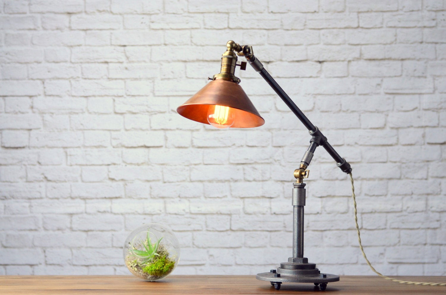 Best ideas about Industrial Desk Lamp . Save or Pin Industrial Table Lamp Edison Desk Lamp Copper Lamp Pipe Now.