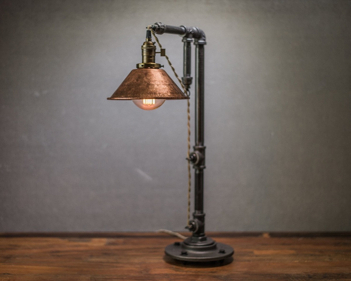Best ideas about Industrial Desk Lamp . Save or Pin 30 Industrial Style Lighting Fixtures To Help You Achieve Now.