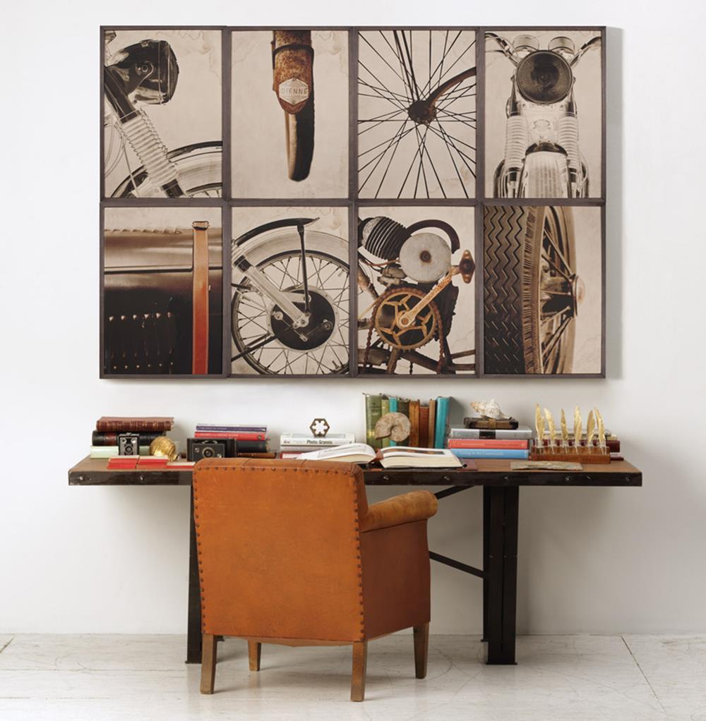 Best ideas about Industrial Wall Art . Save or Pin BSA Motorcyle Wheel Industrial Loft Wall Art Framed Now.