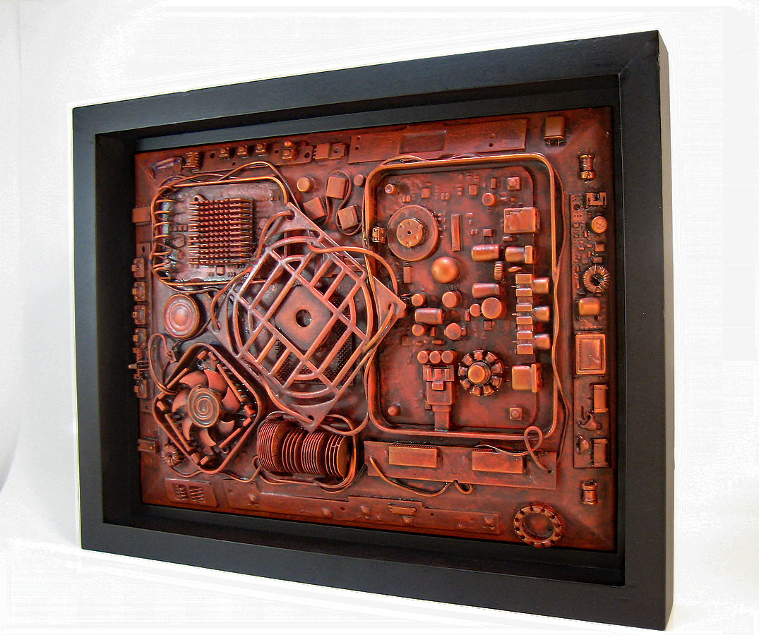 Best ideas about Industrial Wall Art . Save or Pin Industrial wall art 11x14 Unique puter steampunk sculpture Now.