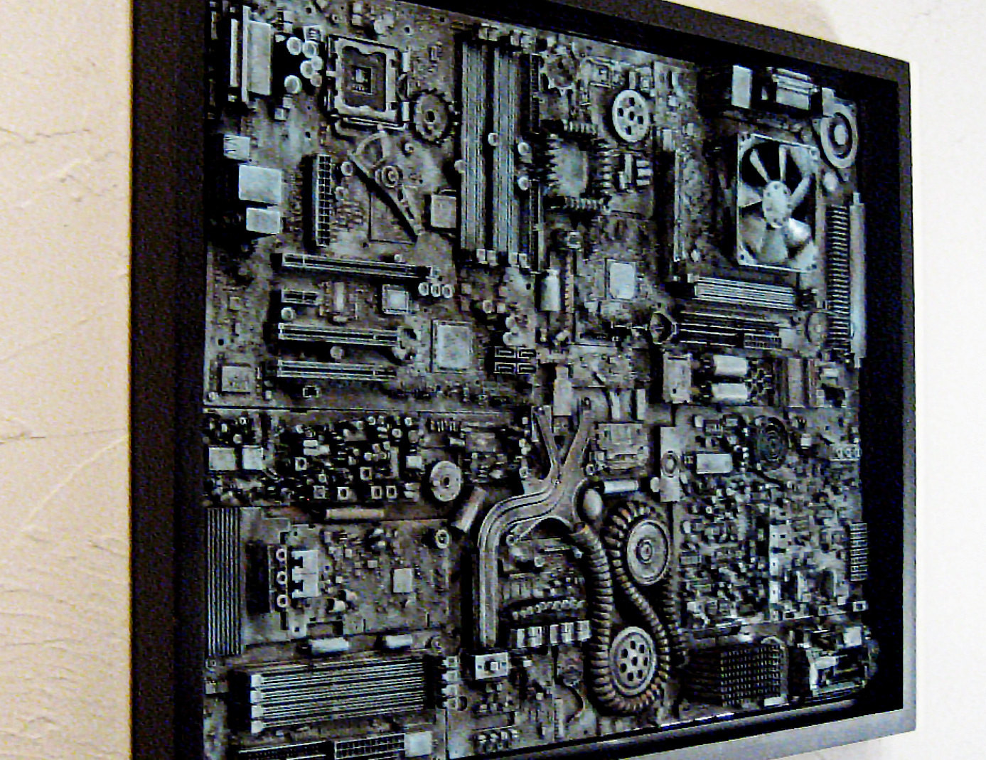 Best ideas about Industrial Wall Art . Save or Pin Industrial wall art Big wall art 18x24 Unique puter Now.