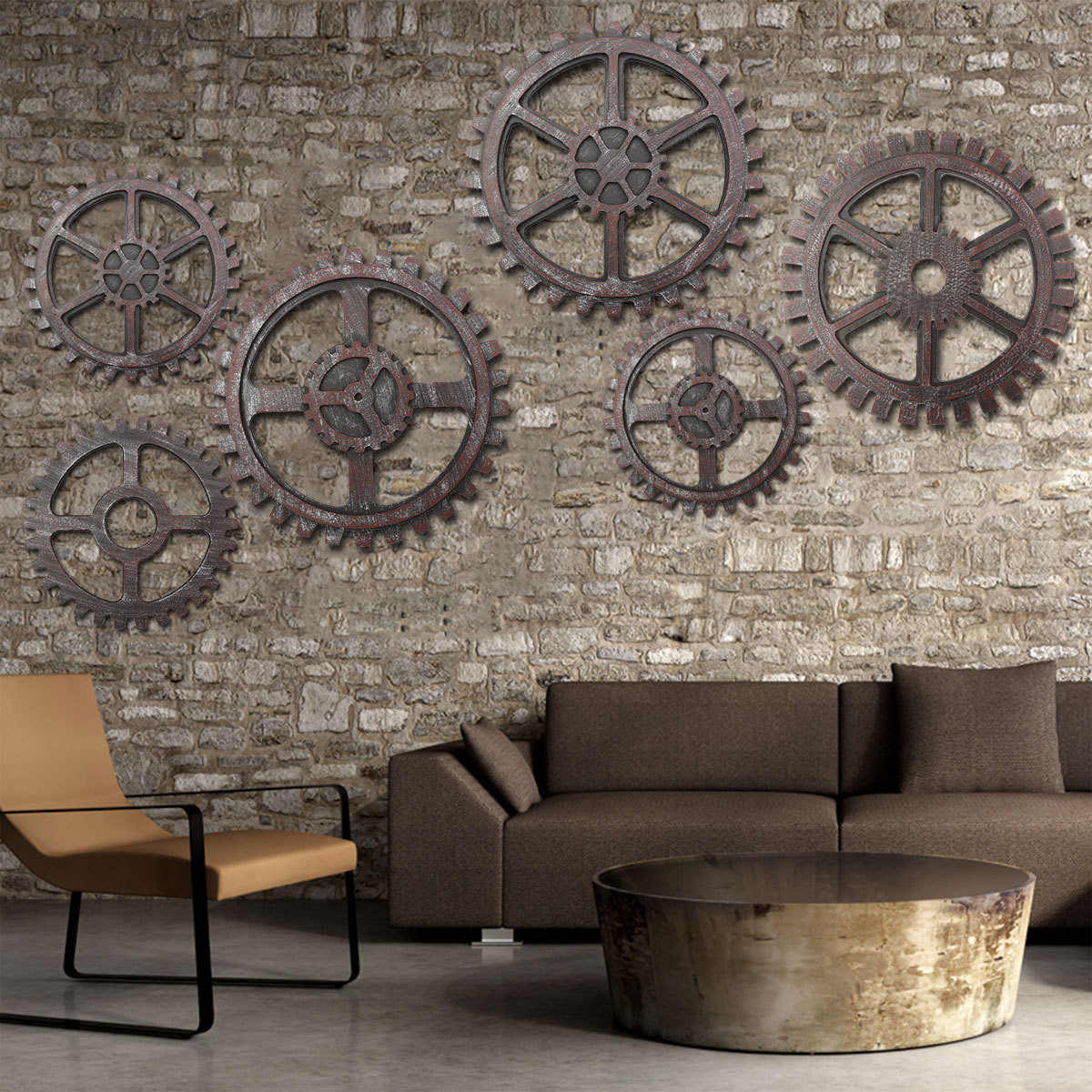 Best ideas about Industrial Wall Art . Save or Pin Wooden Gear Wall Art Industrial Antique Vintage Chic Now.