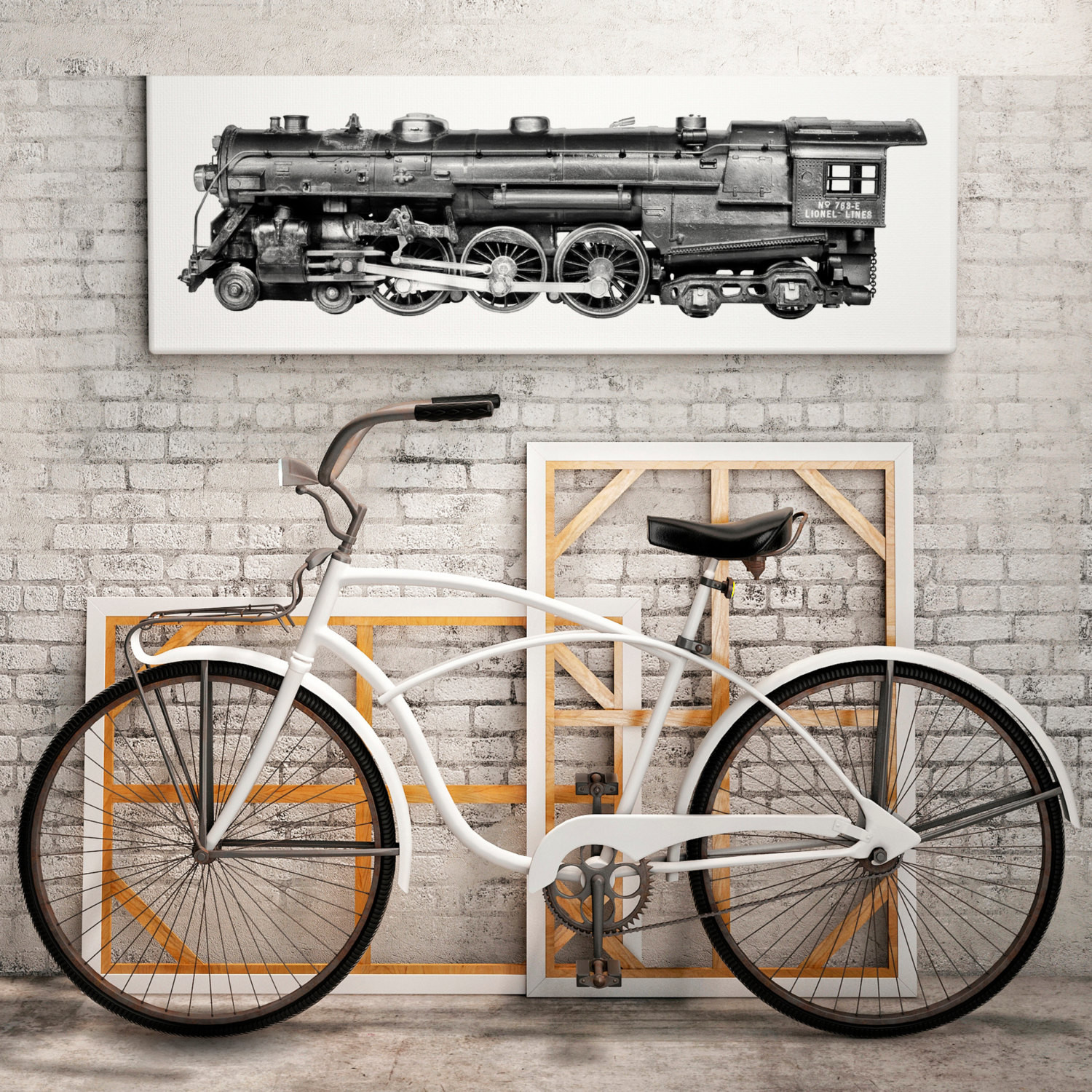 Best ideas about Industrial Wall Art . Save or Pin TRAINS Steampunk decor Industrial wall decor by Now.