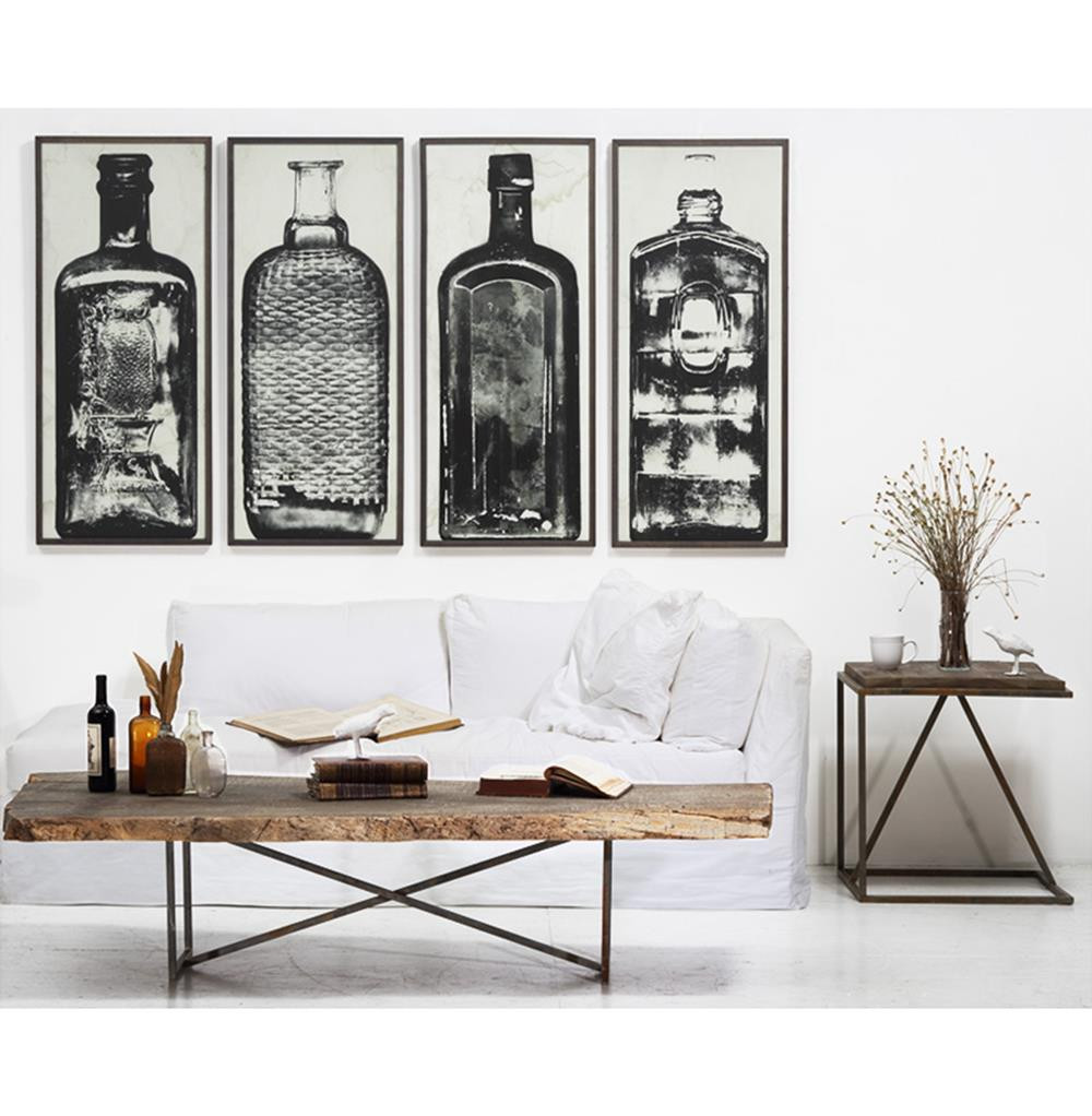Best ideas about Industrial Wall Art . Save or Pin Copper River Industrial Loft Bottle Black White Wall Now.