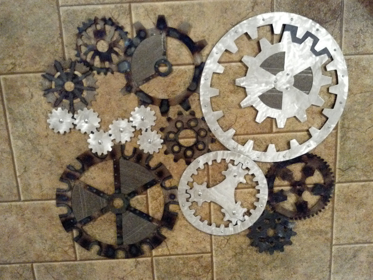 Best ideas about Industrial Wall Art . Save or Pin Gears Art Industrial Steampunk Wall Decor Made to Order Now.