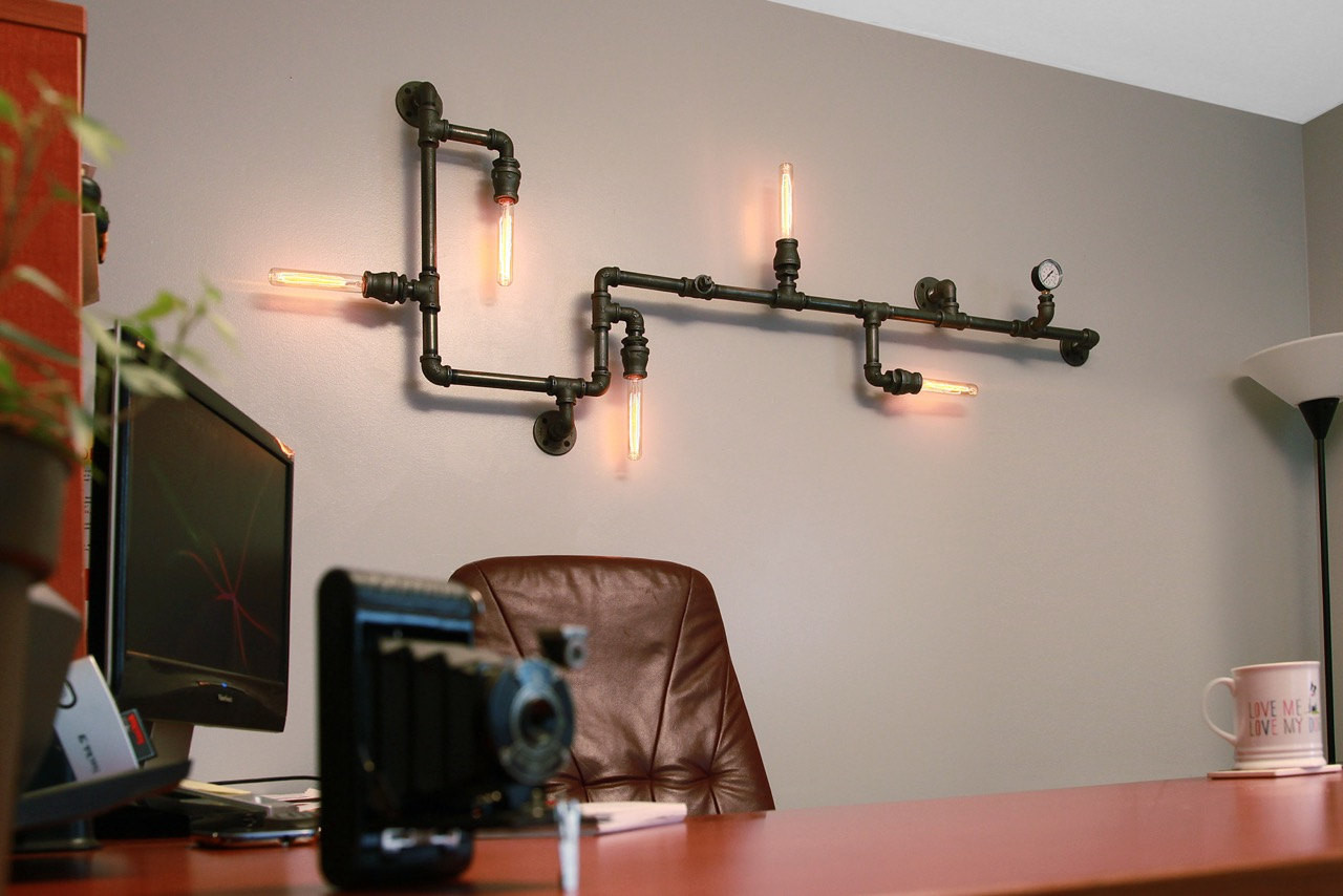 Best ideas about Industrial Wall Art . Save or Pin 20 Savvy Handmade Industrial Decor Ideas You Can DIY For Now.