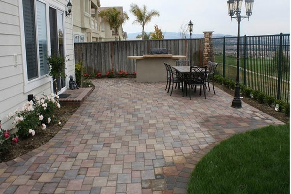 Best ideas about Inexpensive Patio Pavers . Save or Pin Concrete paver patio ideas home depot patio pavers great Now.