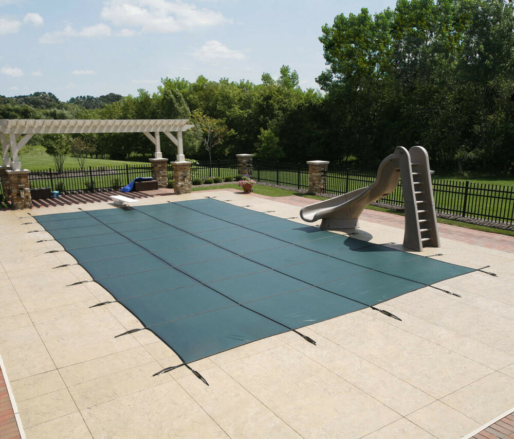 Best ideas about Inground Pool Cover . Save or Pin 14 X28 MERCIAL MESH RECTANGLE INGROUND POOL CHILD PET Now.