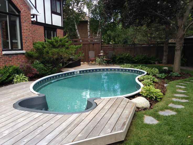 Best ideas about Inground Pool Deck . Save or Pin 48 best images about Semi Inground Pools on Pinterest Now.
