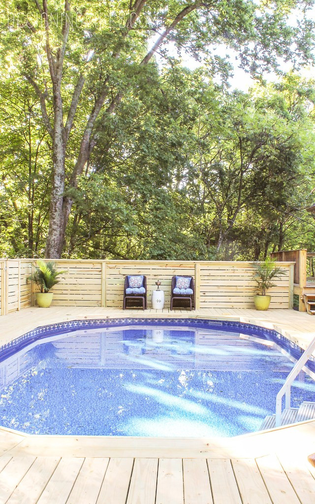 Best ideas about Inground Pool Deck . Save or Pin How to Make an Ground Pool Look Inground Pool Deck Now.