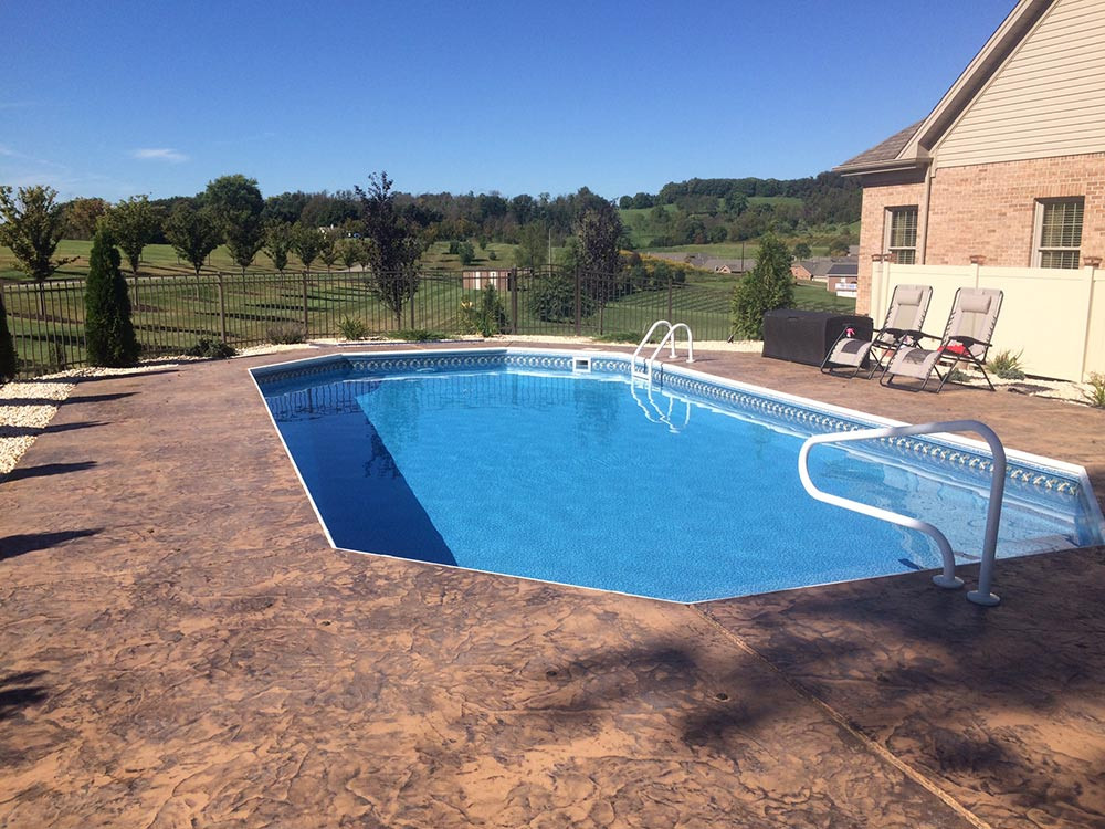 Best ideas about Inground Pool Deck . Save or Pin Pleasure Pool & Deck Now.