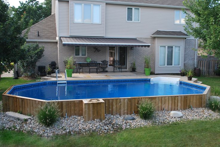 Best ideas about Inground Pool Deck . Save or Pin 25 best ideas about Semi inground pools on Pinterest Now.