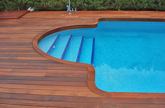Best ideas about Inground Pool Deck . Save or Pin Decks for Inground Pools Pools & Backyards Now.